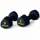 Гантель ZIVA 1-10 кг, Rubber Tribell Studio Dumbbell