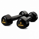 Гантель ZIVA 1-5 кг, Vinyl Tribell Studio Dumbbell