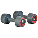 Гантели обрезиненные Reebok Rubber Hand Weights, пара